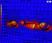 Ausbruch Querschlag - Plastische Verzerrungen im Boden, Schritt 9
